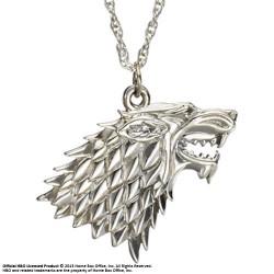 pendentif et collier argent stark le trône de fer