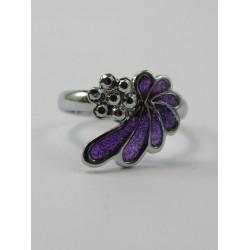 bague violette kawaï taille réglable