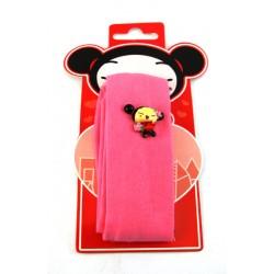 bandeau pucca rose avec figurine