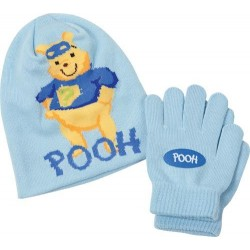 bonnet + gants winnie l'ourson