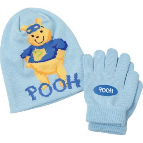 bonnet + gants winnie l'ourson