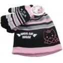 bonnet et gants angel cat sugar noir