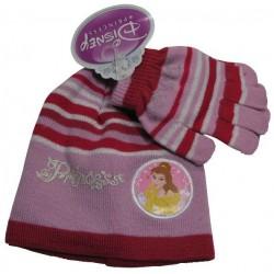 bonnet et gants disney princess rouge taille 2-4 ans
