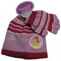 bonnet et gants disney princess rouge taille 6-8 ans
