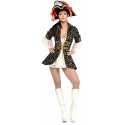 costume adulte sexy reine des pirates taille s