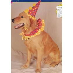 costume pour chiens clown rouge