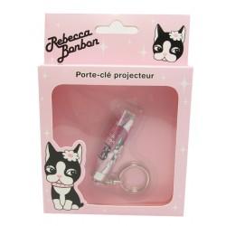 porte clef projecteur rebecca bonbon rose