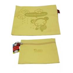 mini-pochette pucca plate zippé jaune
