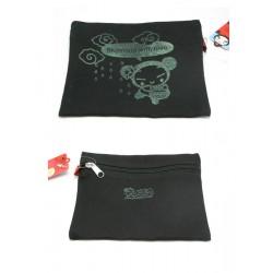 mini-pochette pucca plate zippé noire