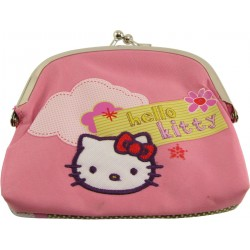 porte-monnaie fermoir hello kitty bakery rose