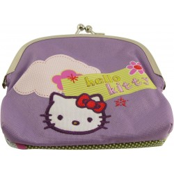 porte-monnaie fermoir hello kitty bakery mauve
