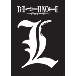 poster death note plastifié grand format symbole l