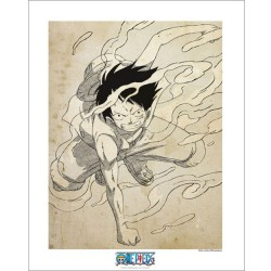 artprint one piece luffy gear 2