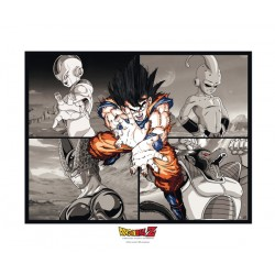 artprint collector dragonball z : goku vs ennemis