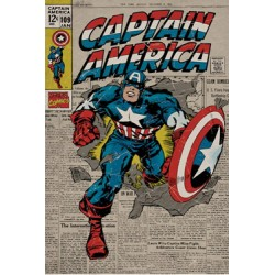 pack posters retro: captain america 61 x 91 cm