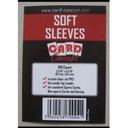 100 sleeves standard soft sleeves