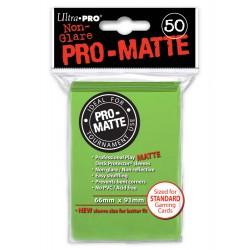 ultra pro 50 pochettes deck protectors pro-matte vert tilleul