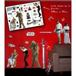 star wars - planche de stickers muraux rebels