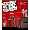 star wars - planche de stickers muraux rebels