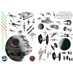 stickers muraux star wars - bataille spaciale