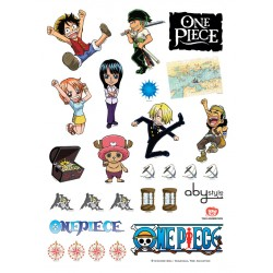 one piece - planche sticker muraux sd characters