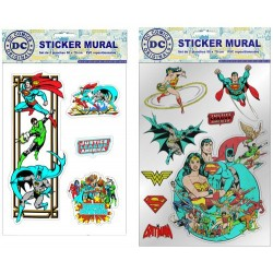 stickers muraux marvel : superman 50 x 70 cm