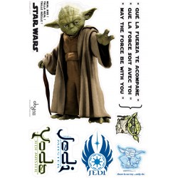 stickers muraux star wars - yoda