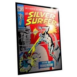marvel comics steel covers panneau métal silver surfer heir of f