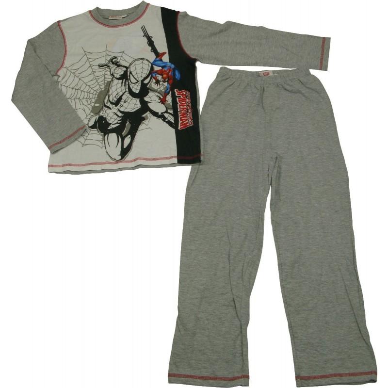 pyjama spiderman gris 4 10 ans. Black Bedroom Furniture Sets. Home Design Ideas