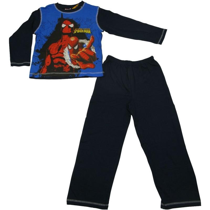 pyjama spiderman en action bleu 4 10 ans. Black Bedroom Furniture Sets. Home Design Ideas