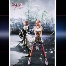 wallscroll final fantasy xiii-2 lightning et serah farro