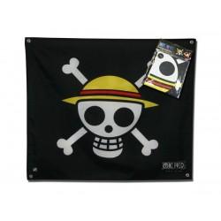 drapeau one piece skull - luffy 50 x 60