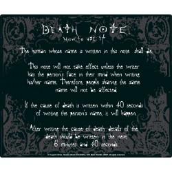 tapis de souris death note : rules