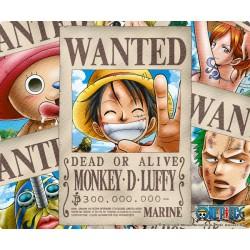 tapis de souris one piece : wanted pirates