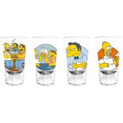 set de 4 verres simpson à liqueur