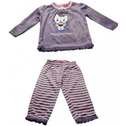 pyjama angel cat sugar violet (2 à 6 ans)