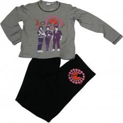 pyjama jonas brother gris-noir (8 à 14 ans)