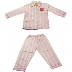pyjama charlotte aux fraises flanelle (2 à 6 ans)