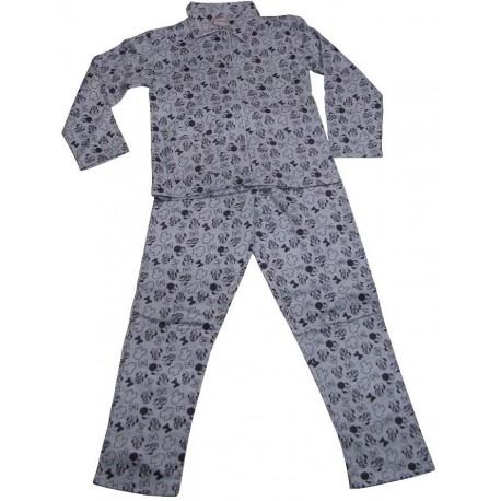 pyjama disney minnie flanelle grise 2 6 ans. Black Bedroom Furniture Sets. Home Design Ideas