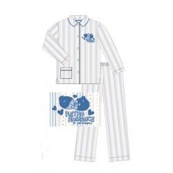 pyjama pucca rayures bleu (8 à 14 ans)