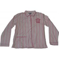 pyjama mr mme rayures rose (8 à 14 ans)