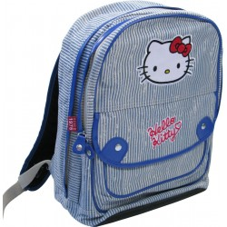 sac à dos hello kitty marin 2 compartiments bleu