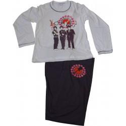 pyjama jonas brother violet-blanc (8 à 14 ans)