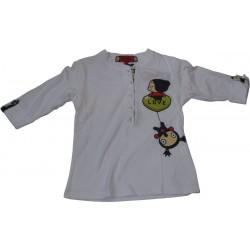pyjama pucca carré bleu-jaune (8 à 14 ans)
