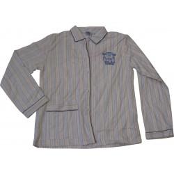 pyjama mr mme rayures bleu (8 à 14 ans)