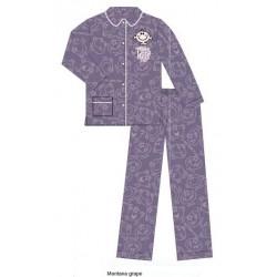 pyjama monsieur madame violet (2 à 14 ans)
