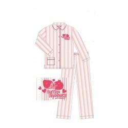 pyjama pucca rayures rouge (8 à 14 ans)