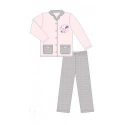 pyjama snoopy flanelle pink (2 à 6 ans)