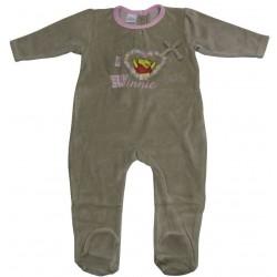 pyjama fille disney winnie taupe (1 à 9 mois)