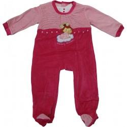 dors bien velours charlotte aux fraises rose-bonbon (3 à 18 mois